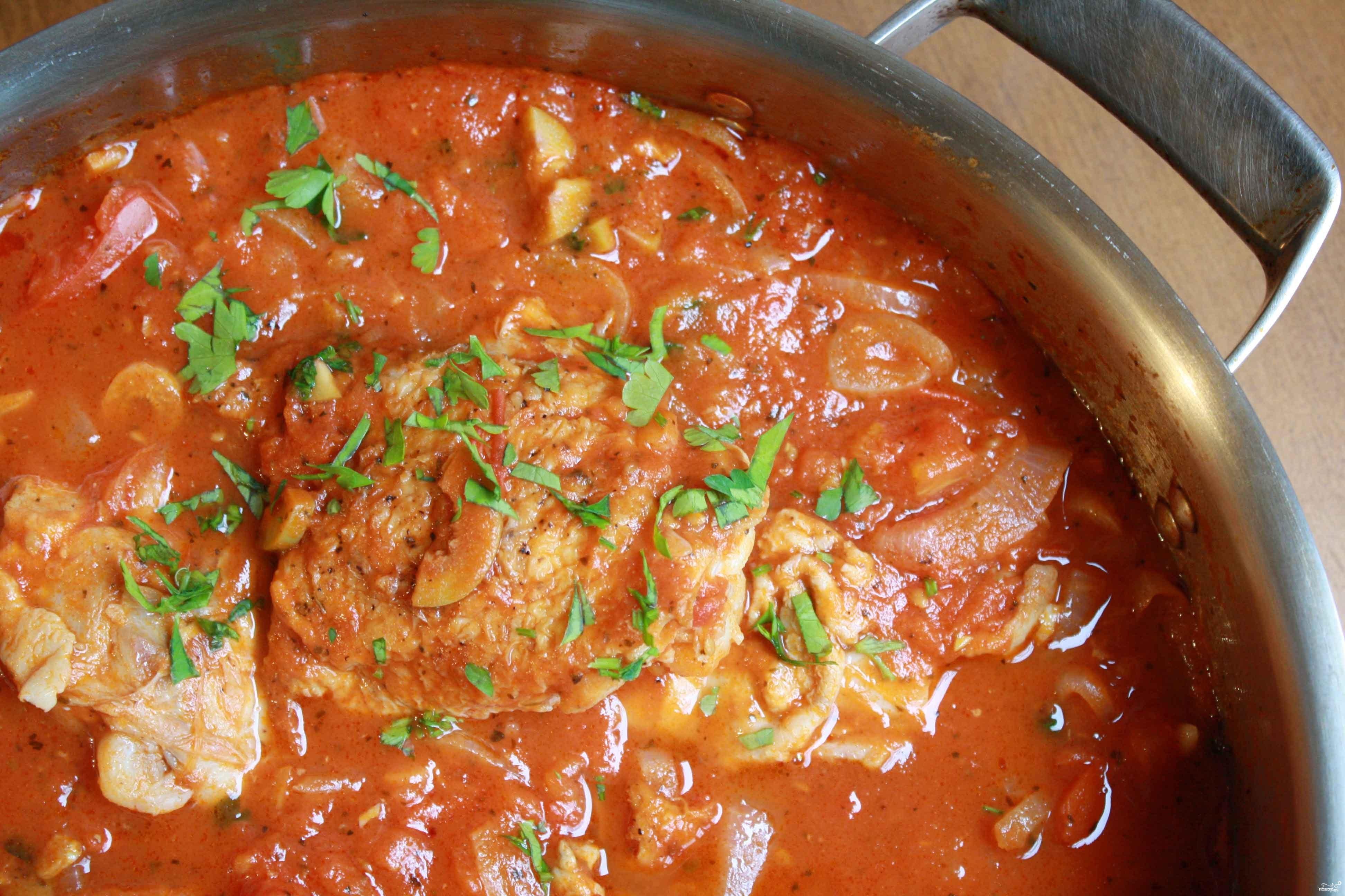 Тушеное мясо с подливкой рецепт пошагово в томатном соке