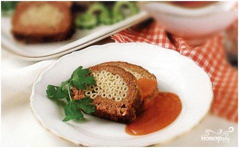 Рецепт Говяжий рулет с макаронами