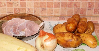 Рецепт Свинина с кабачками в мультиварке