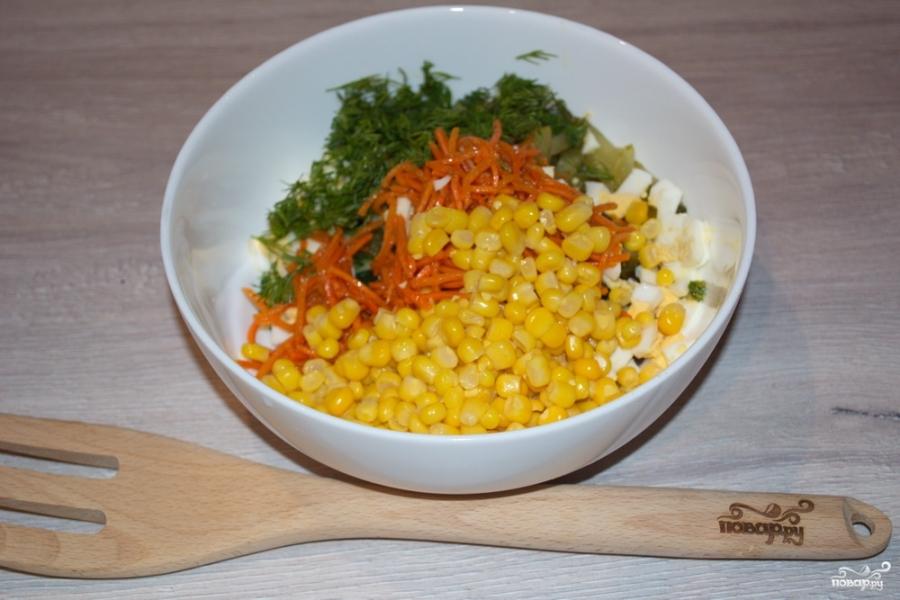 Салат с салями и кукурузой - фото шаг 5