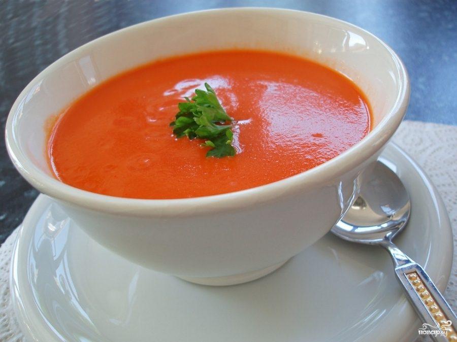 Рецепт Острый томатный суп с бараньим горохом