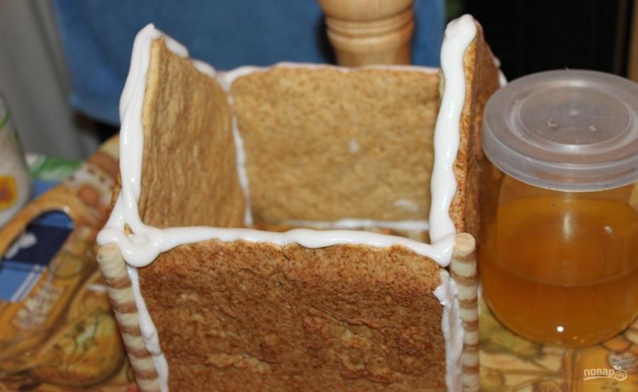 Рождественский пряничный ароматный домик - фото шаг 15
