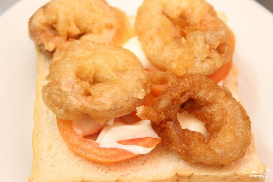 Бутерброды с кальмарами - фото шаг 4