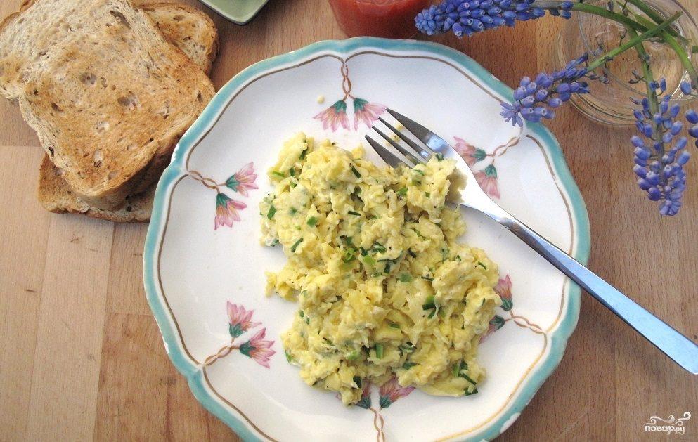 Рецепт Яичница с капустой