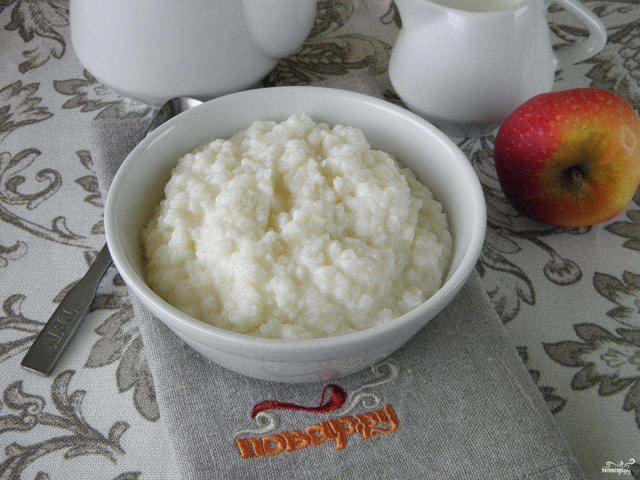 рисовая каша на молоке рецепт с фото на 2