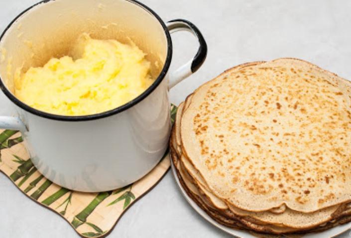 Рецепт Блинчики с картошкой