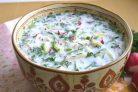 Окрошка (классический рецепт) на кефире