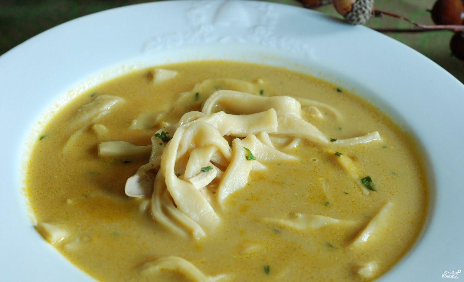 Кремовый куриный суп