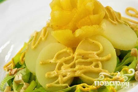 Рецепт Салат картофельный с ананасом