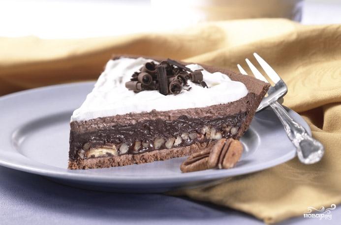 Слоеный шоколадный пирог