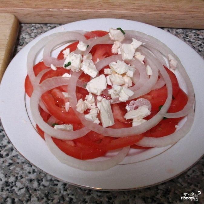 Средиземноморский салат - фото шаг 4