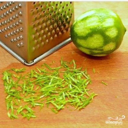 Салат с креветками в лаймовом соусе - фото шаг 5