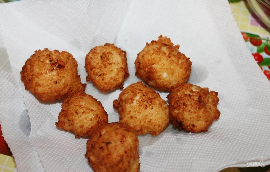Пончики из творога классические - фото шаг 9