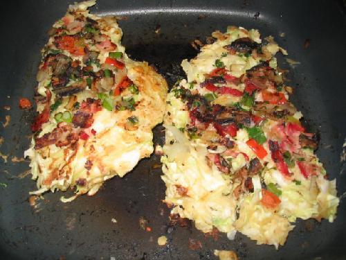 Японская пицца Окономияки (Okonomiyaki) - фото шаг 10