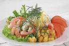 Овощи с креветками