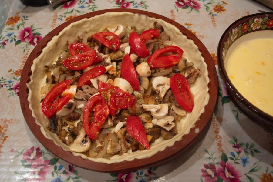 Пирог с курицей - фото шаг 8