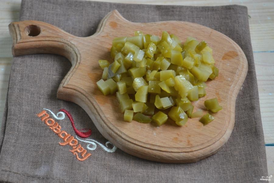 Салат с креветками и икрой - фото шаг 2