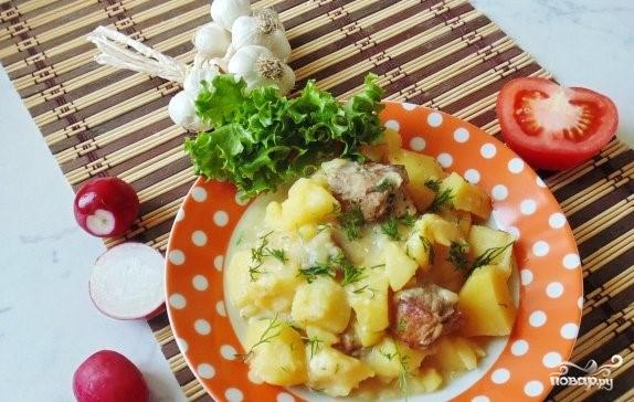 Свинина со сметаной и картофелем - фото шаг 4