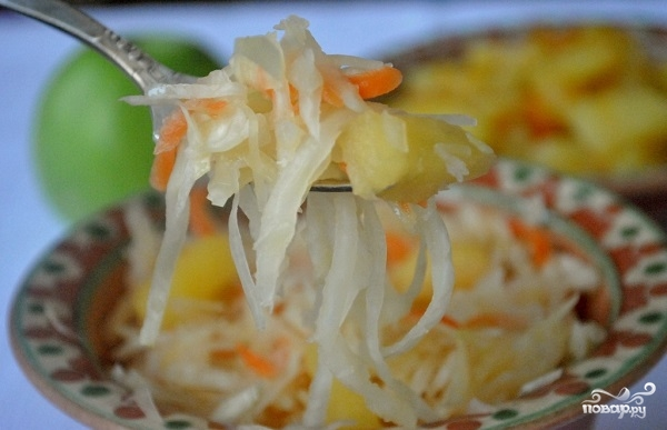 Рецепт Капуста маринованная с яблоками