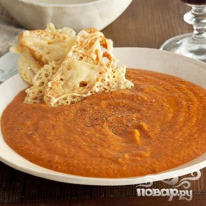 Суп с запеченным чесноком, помидорами и сыром - фото шаг 8