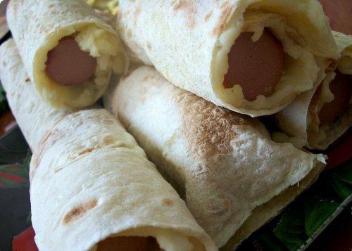 Сосиски в картофельной шубке - фото шаг 5