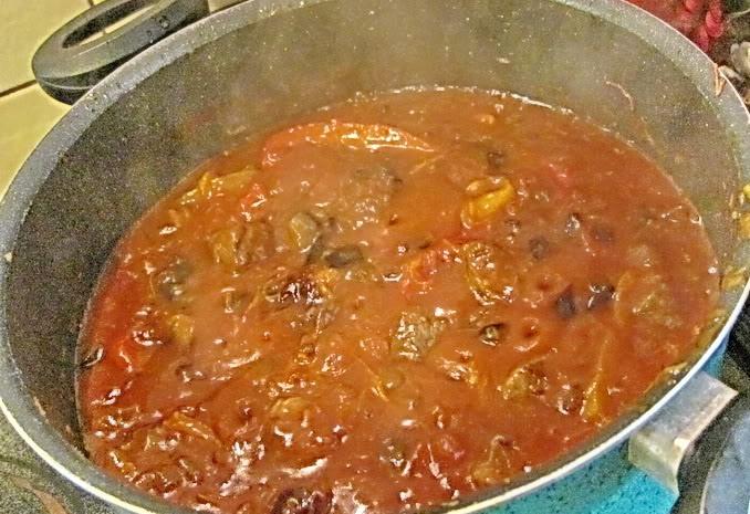Говядина с баклажанами и помидорами - фото шаг 12