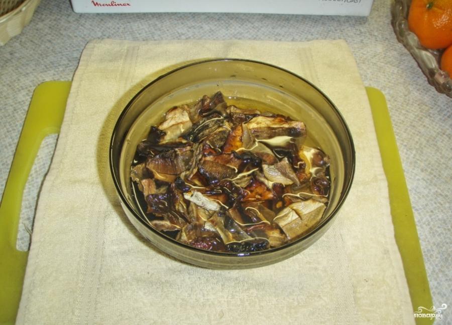 Грибовница из сухих грибов - фото шаг 2