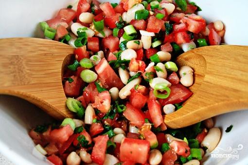 Салат с белой фасолью - фото шаг 8
