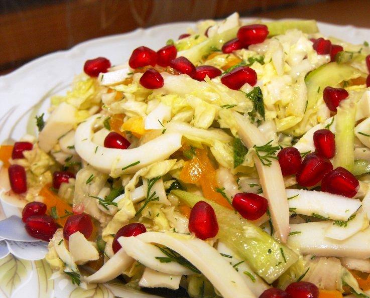 Салат из кальмаров с овощами - фото шаг 6