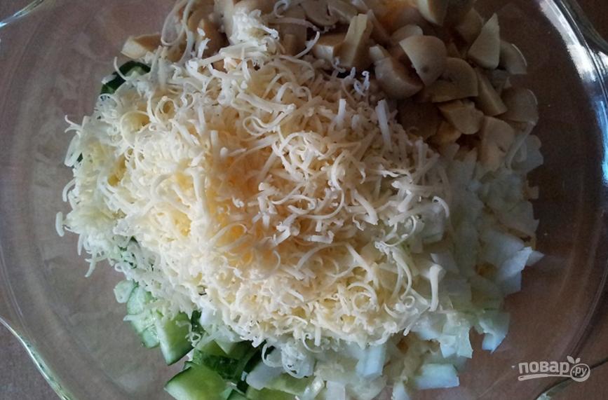 Салат из маринованных шампиньонов с курицей рецепт пошагово в