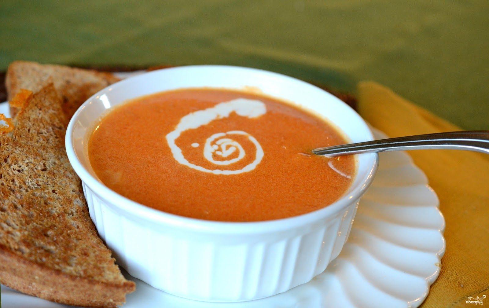 Суп с консервированными помидорами