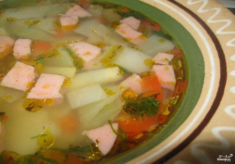 колбасный суп рецепт