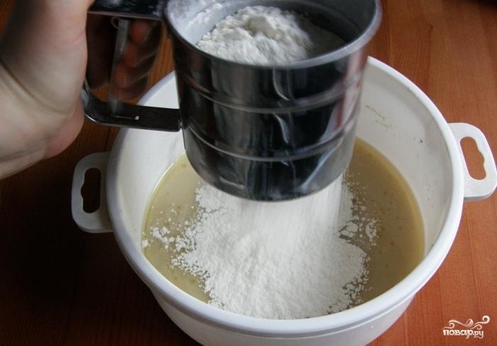 Белый хлеб на закваске в духовке - фото шаг 2