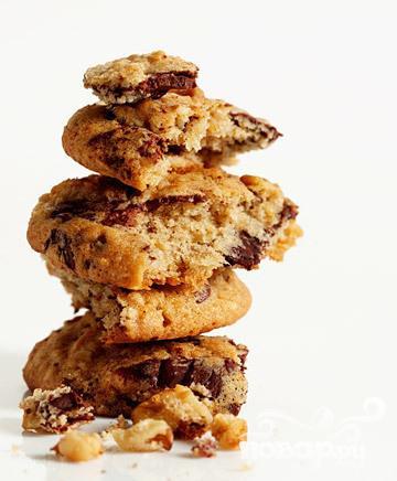 Рецепт Орехово-банановое печенье с шоколадом