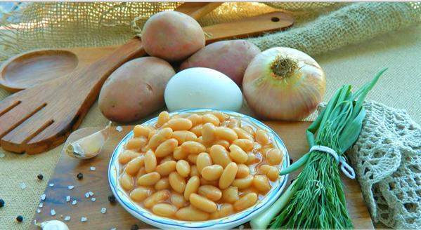 Рецепт Куриный суп с фасолью консервированной