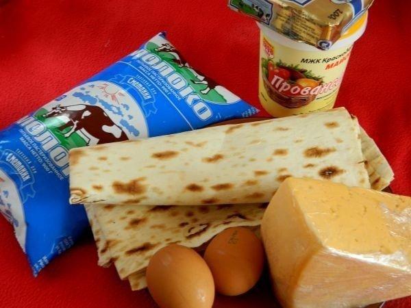 Рецепт Пирог из лаваша с сыром