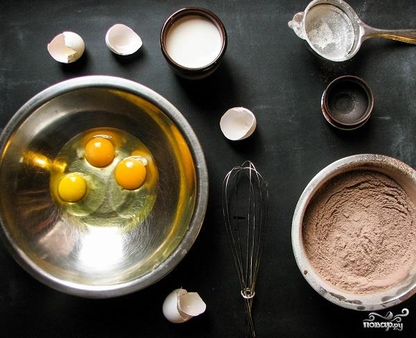 Блинный торт шоколадный - фото шаг 2
