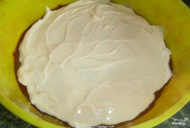 """Торт """"Брауни"""" с вишней - фото шаг 7"""