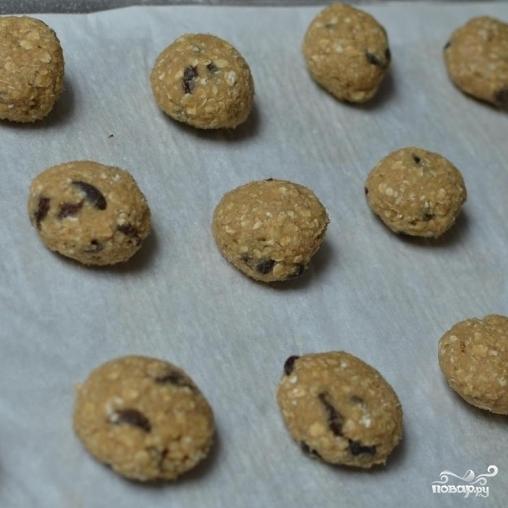 Овсяное печенье с изюмом - фото шаг 3