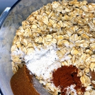 Рецепт Печенье с малиной и овсяными хлопьями