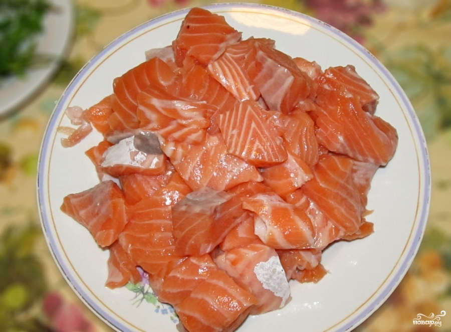 Рецепт Тальятелле с лососем