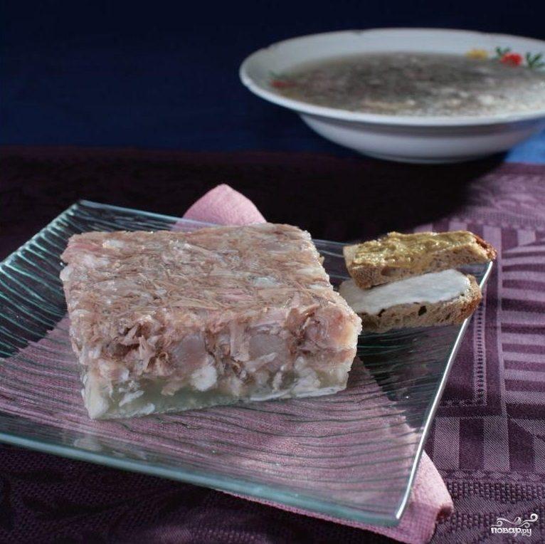 Рецепт Холодец из свинины и курицы