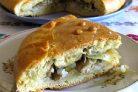 Пирог на кефире с рыбой