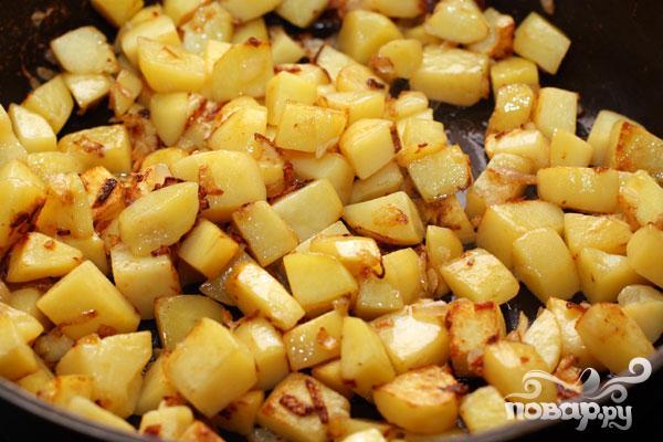 Опята с картошкой в сметане - фото шаг 3