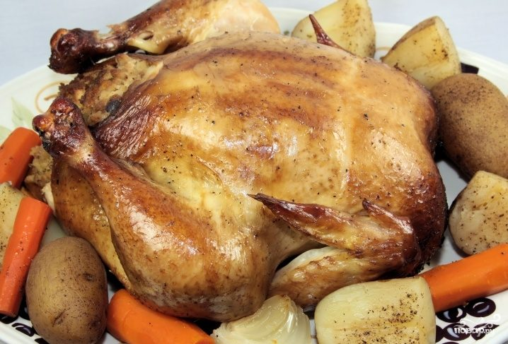 Рецепт Курица на соли в мультиварке