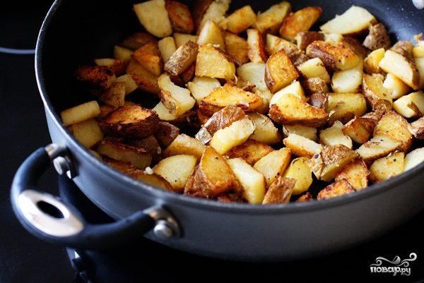 Рецепт Жареная картошка с чесноком