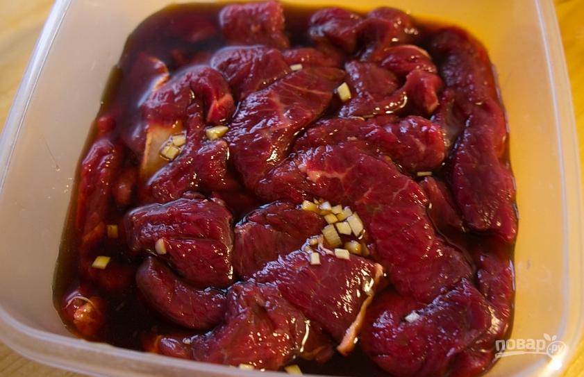 Говядина в соусе терияки - фото шаг 4
