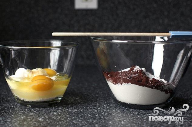 Шоколадные пончики в глазури - фото шаг 1