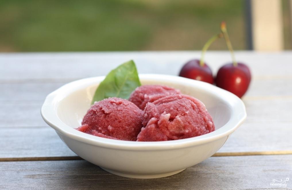Рецепт Вишневое мороженое