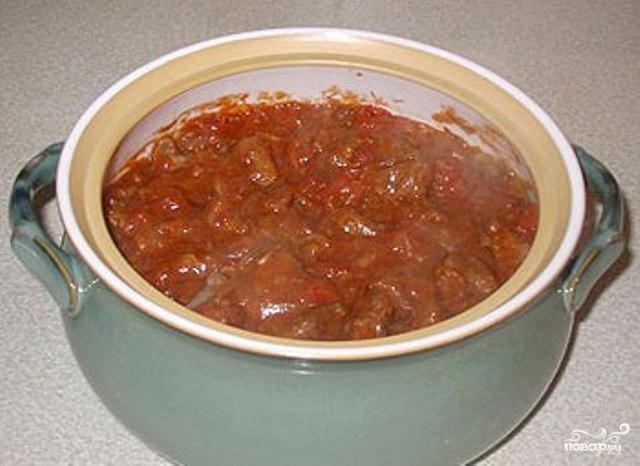 Рецепт Гуляш из свинины в духовке